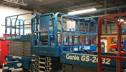 used genie scissor lift equipment
